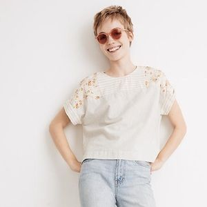 Madewell x the new denim project blouse
